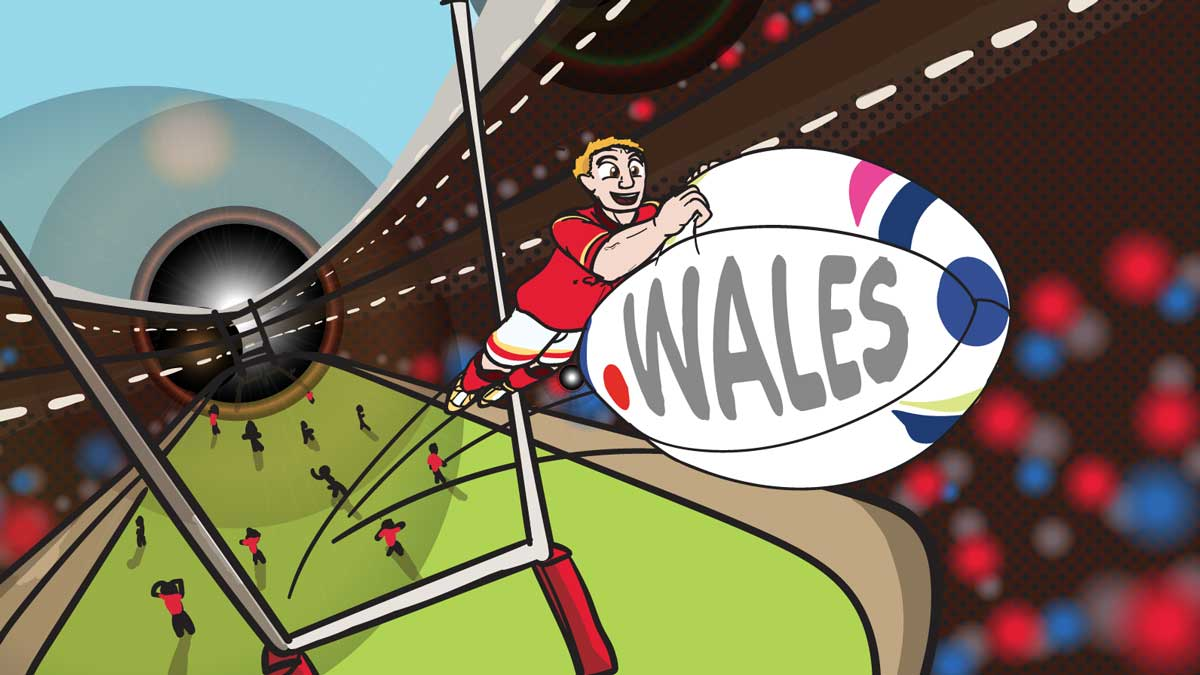 Netistrar.  Rugby conversion with .WALES domain name by Patrick Taylor